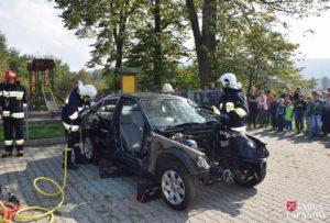 Ćwiczenia strażaków w Sobolowie