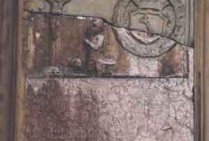 Zabytkowy kościół w Łapanowie - epitafium