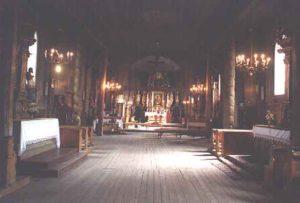 Zabytkowy kościół w Łapanowie - wnętrze - 2