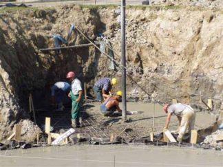 Wykonanie płyt dennych pod bioreaktor i zbiornik osadu nadmiernego