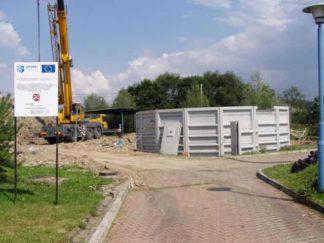 Roboty montażowe bioreaktora i zbiornika osadu nadmiernego