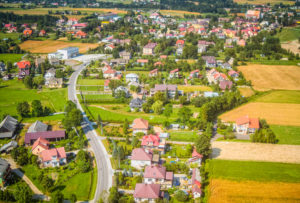 Zdjęcia z motolotni - Łapanów