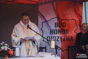 Święto Niepodległości - odsłonięcie pomnika w Grabiu