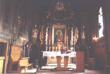 Zabytkowy kościół w Łapanowie - wnętrze - 1